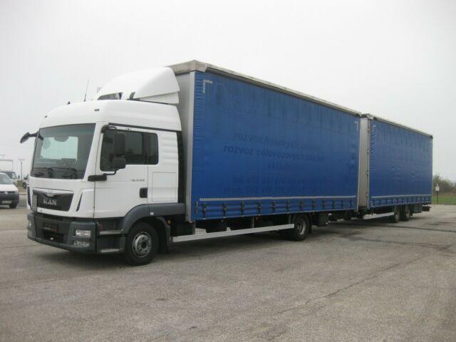 nákladné vozidlo s posuvnou plachtou MAN - TGL 12.250 BL 120 m3 Durchladezug