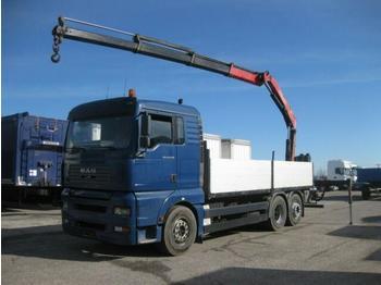 Valníkový/ plošinový nákladný automobil  MAN - TGA 26.430 LL FASSI F150A.23