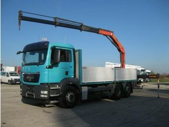 Valníkový/ plošinový nákladný automobil  MAN - TGS 26.440 BL 6x2 4 Kran PKK 15500 faltbar