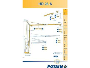 Potain HD 26 A - vežový žeriav
