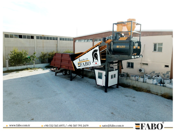 FABO TURBOMİX 120 NEW DESIGN MOBILE CONCRETE BATCHING PLANT IN ALL CAPACITIES - závod na výrobu betónu